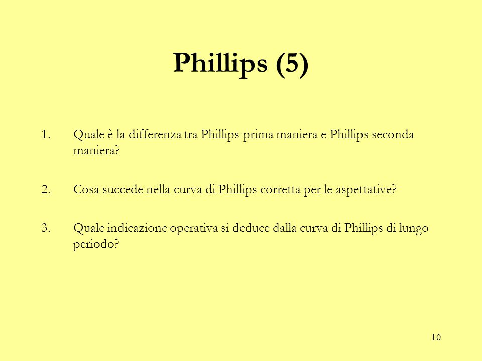 Phillips (5) Quale è la differenza tra Phillips prima maniera e Phillips seconda maniera