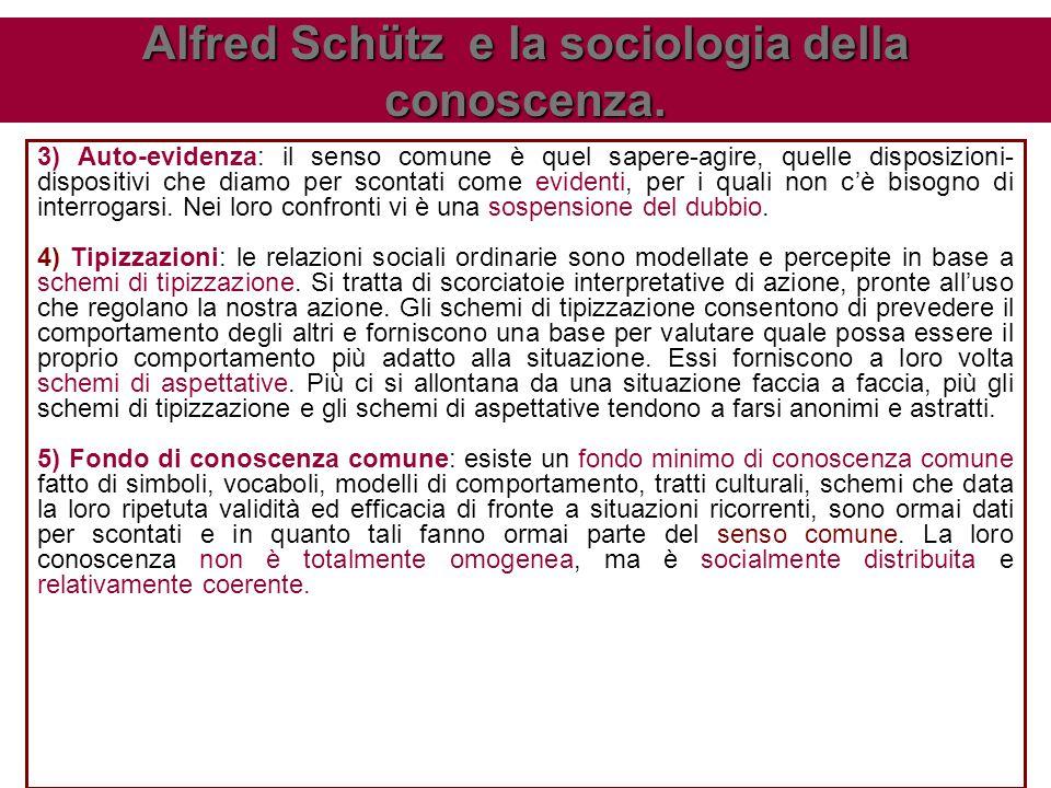 Alfred Schütz e la sociologia della conoscenza.