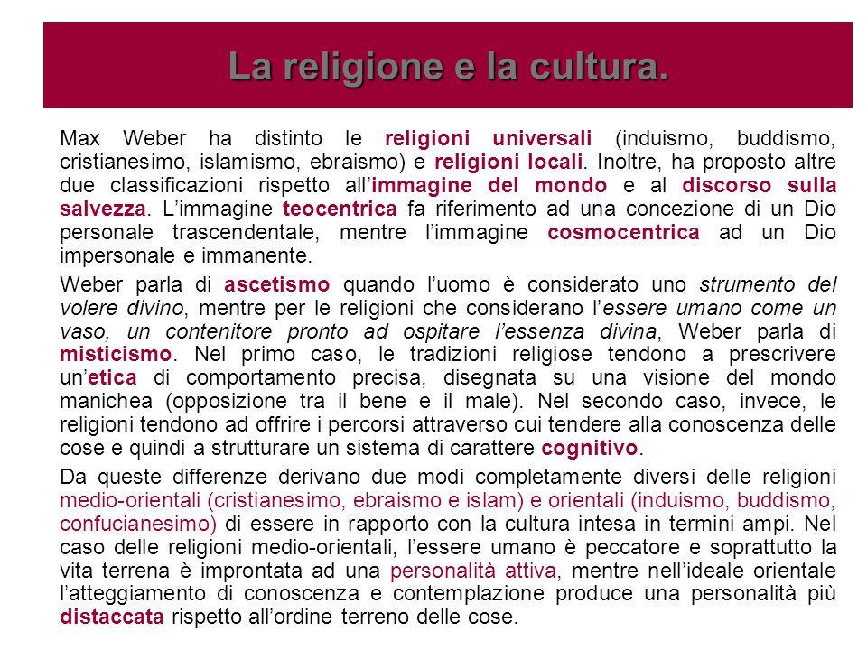 La religione e la cultura.