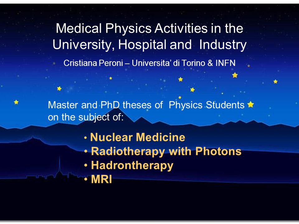 Master and PhD theses of Physics Students on the subject of: