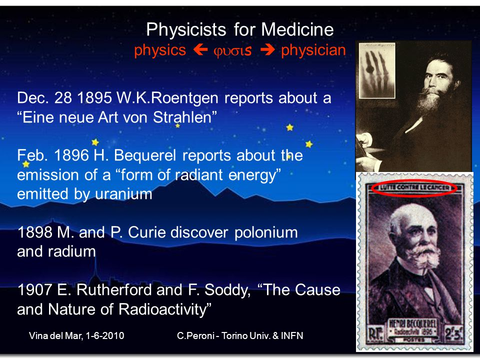 Physicists for Medicine physics  s  physician
