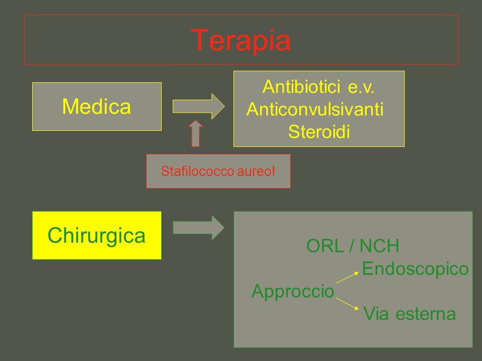 Terapia Medica Chirurgica Antibiotici e.v. Anticonvulsivanti Steroidi