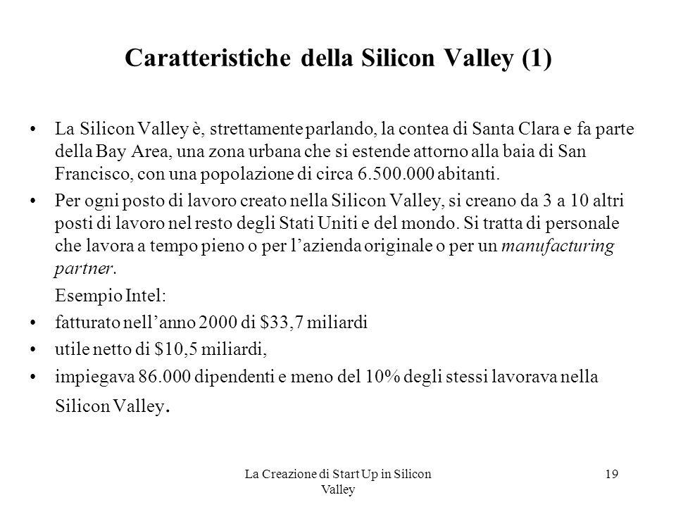 Caratteristiche della Silicon Valley (1)