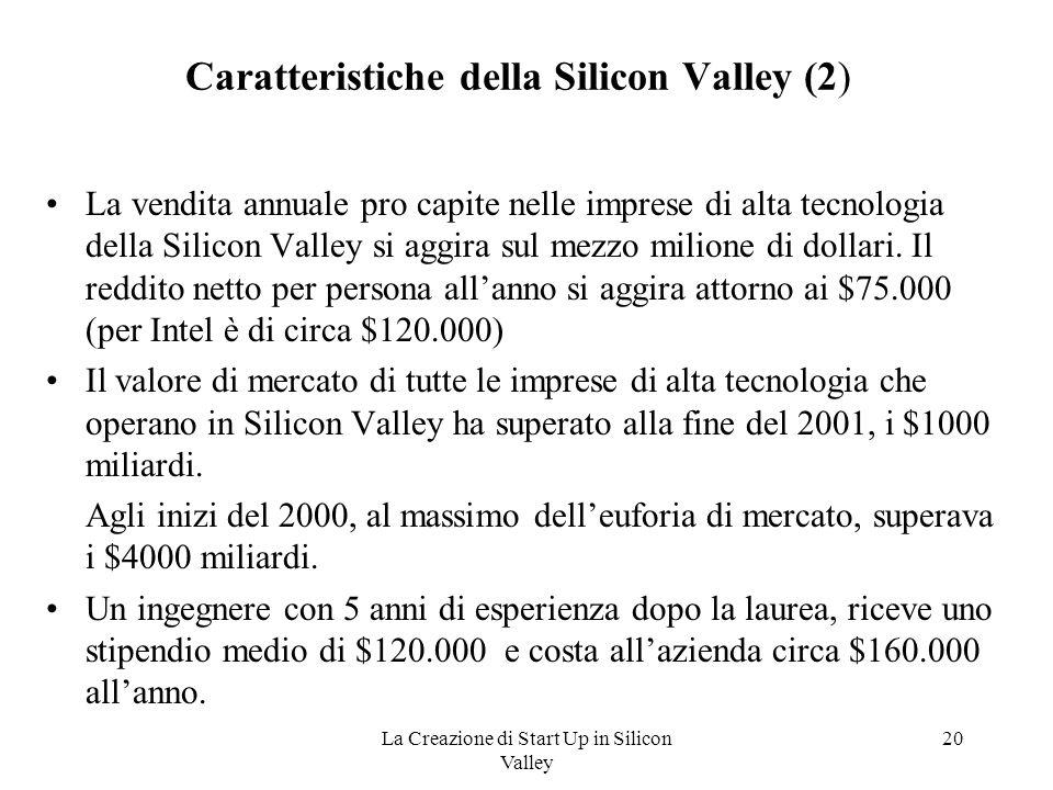 Caratteristiche della Silicon Valley (2)