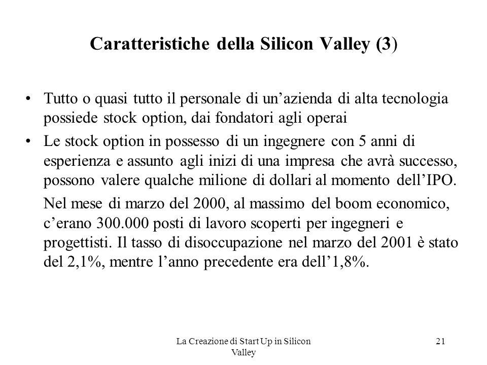 Caratteristiche della Silicon Valley (3)