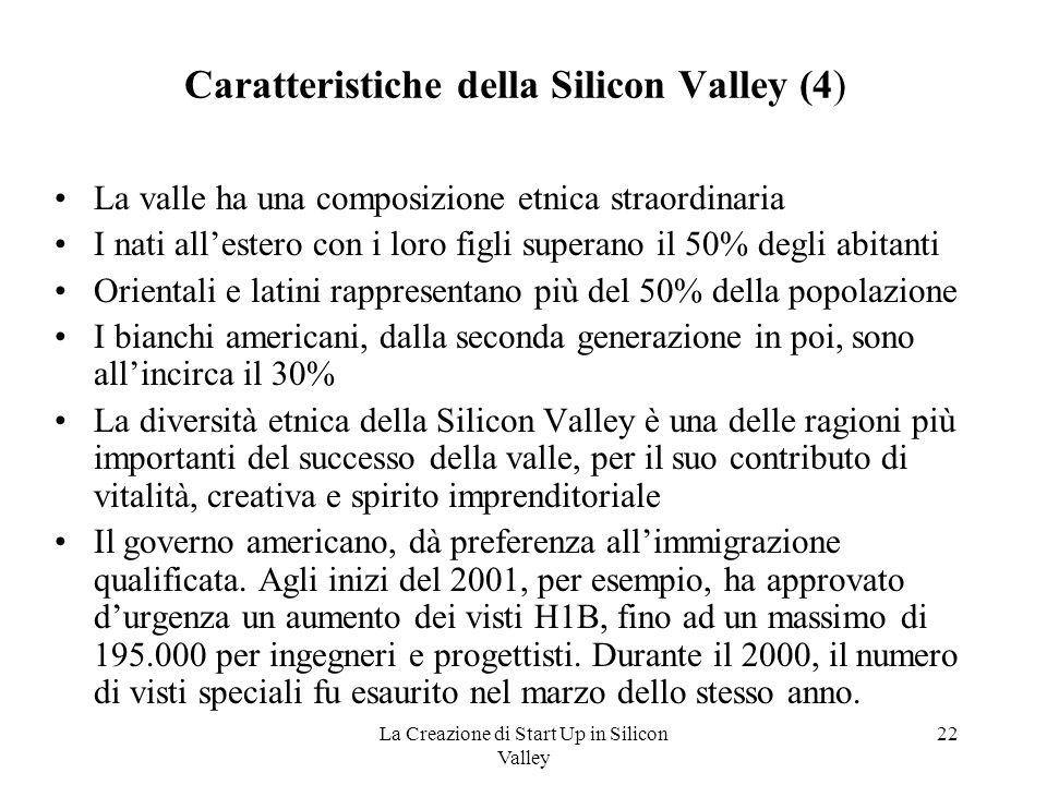 Caratteristiche della Silicon Valley (4)