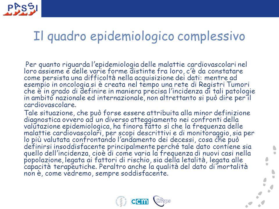 Il quadro epidemiologico complessivo