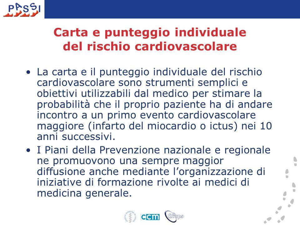 Carta e punteggio individuale del rischio cardiovascolare