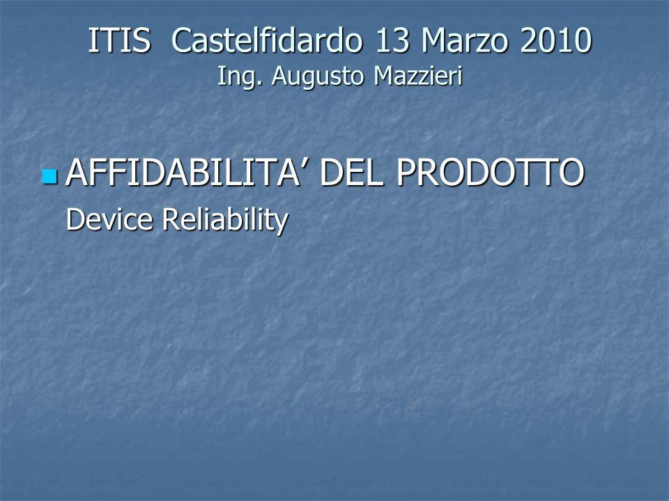 ITIS Castelfidardo 13 Marzo 2010 Ing. Augusto Mazzieri