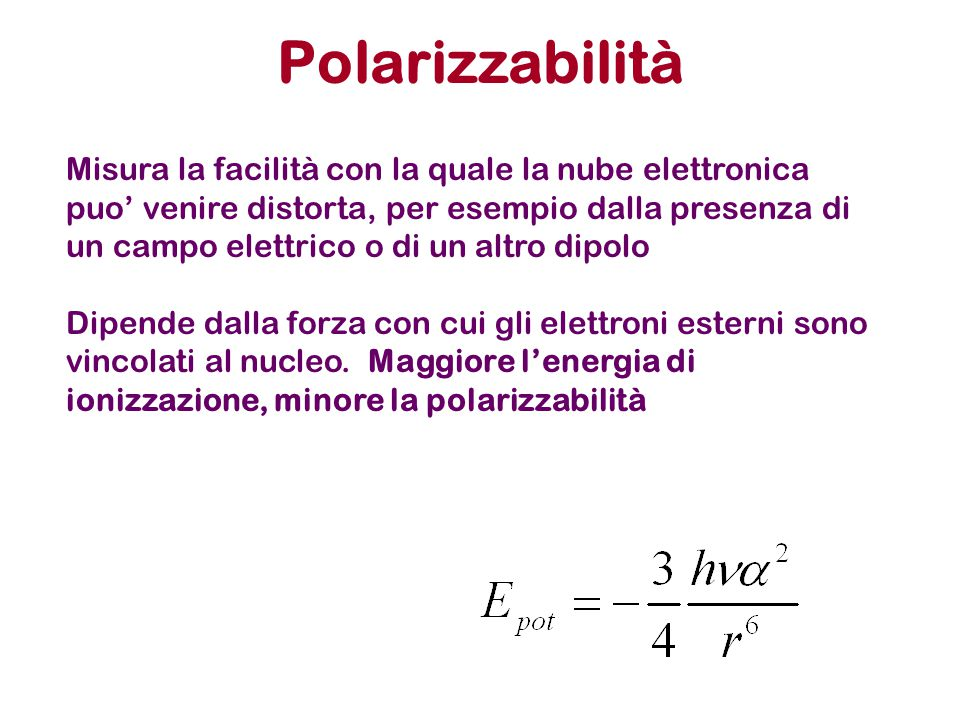 Polarizzabilità