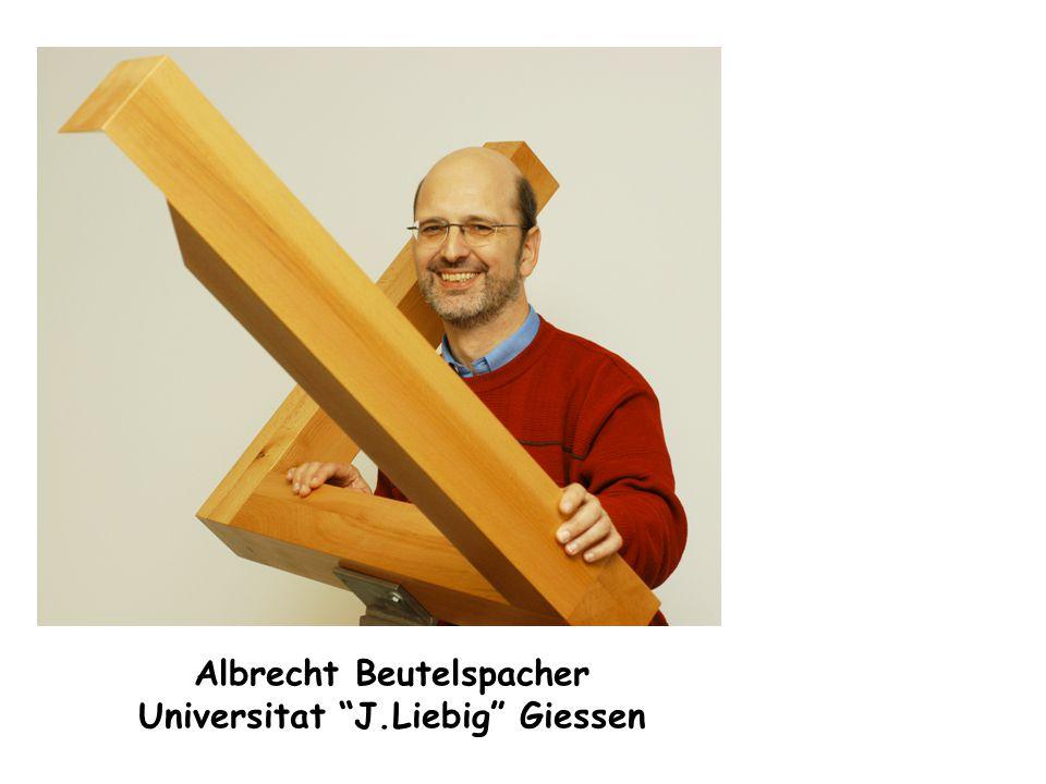 Albrecht Beutelspacher Universitat J.Liebig Giessen