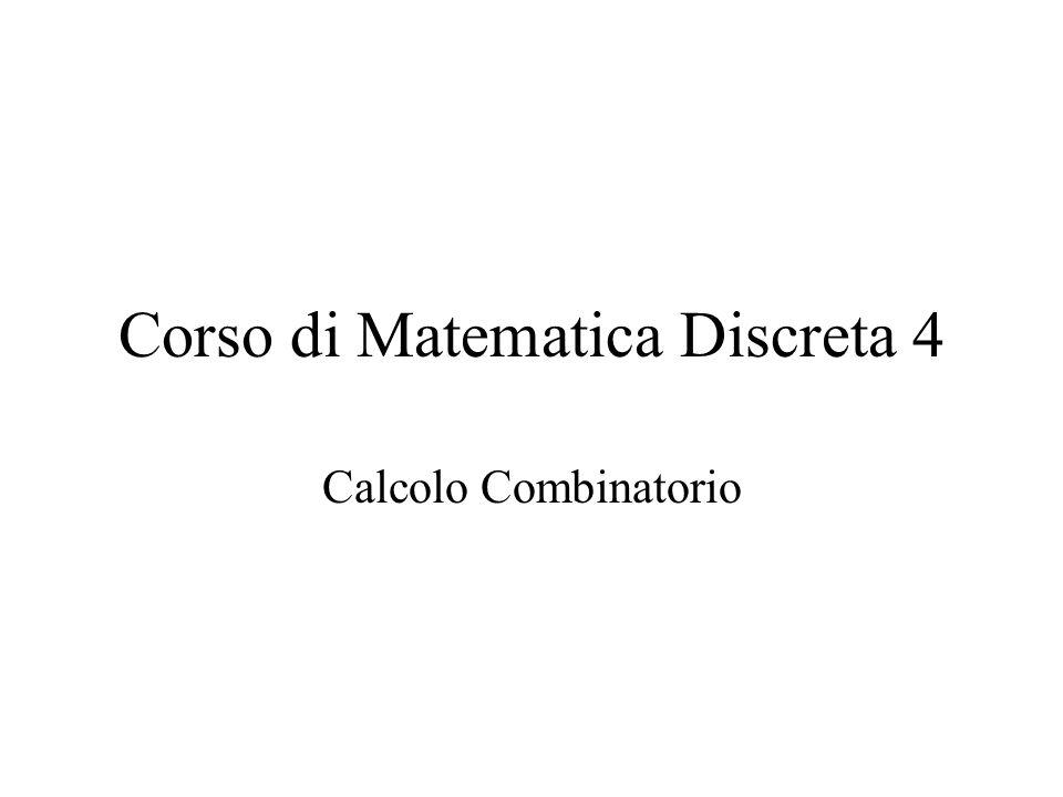 Corso di Matematica Discreta 4