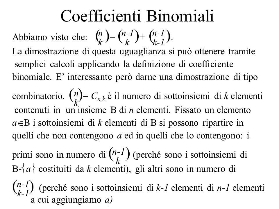 Coefficienti Binomiali