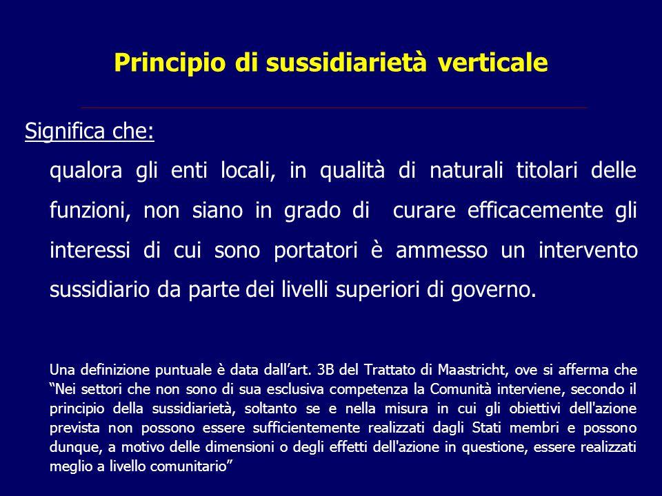 Principio di sussidiarietà verticale