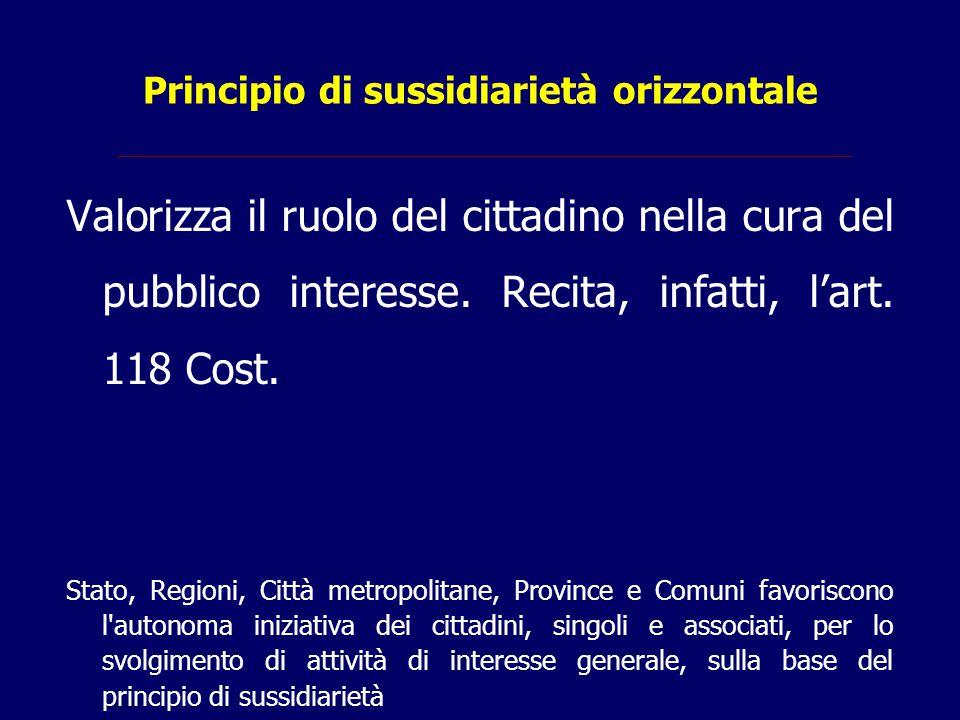 Principio di sussidiarietà orizzontale