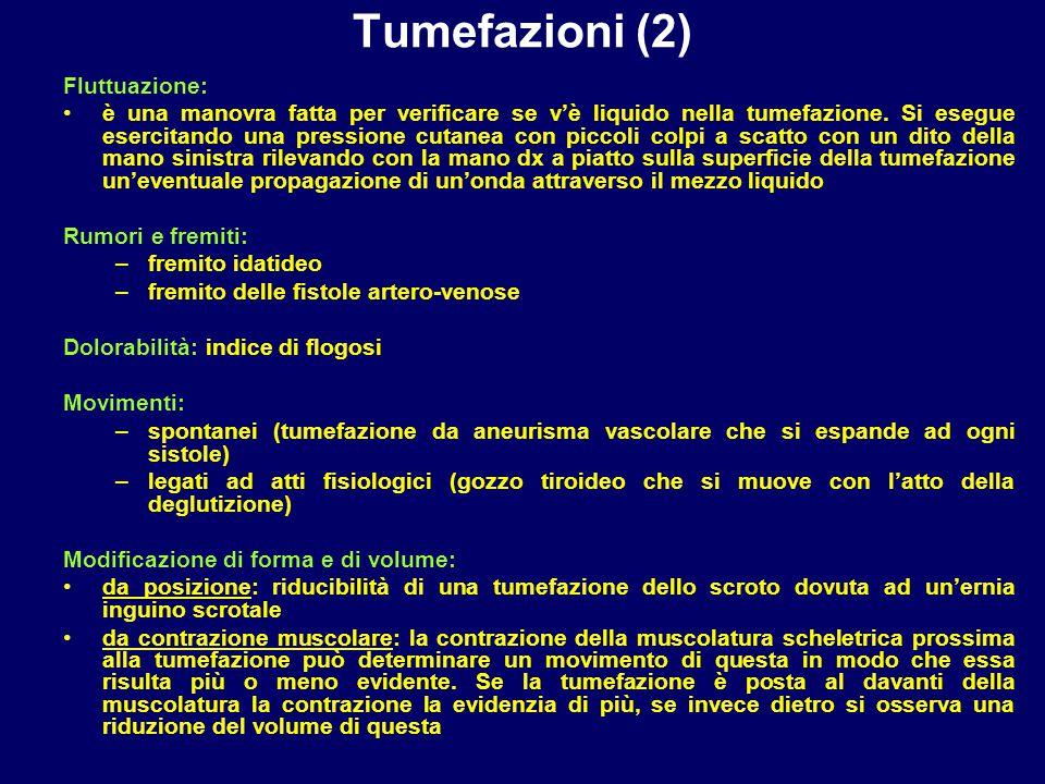 Tumefazioni (2) Fluttuazione: