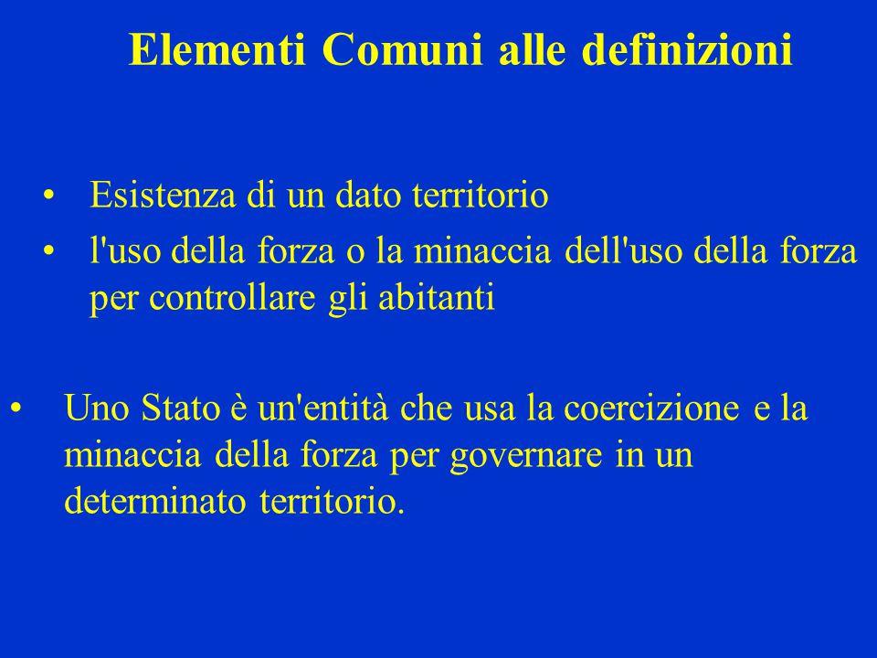 Elementi Comuni alle definizioni