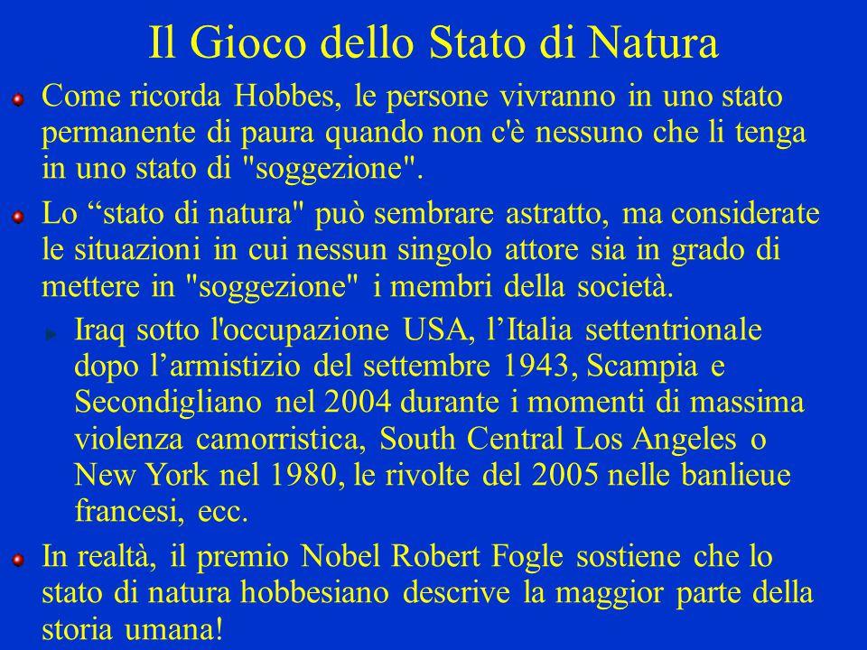 Il Gioco dello Stato di Natura