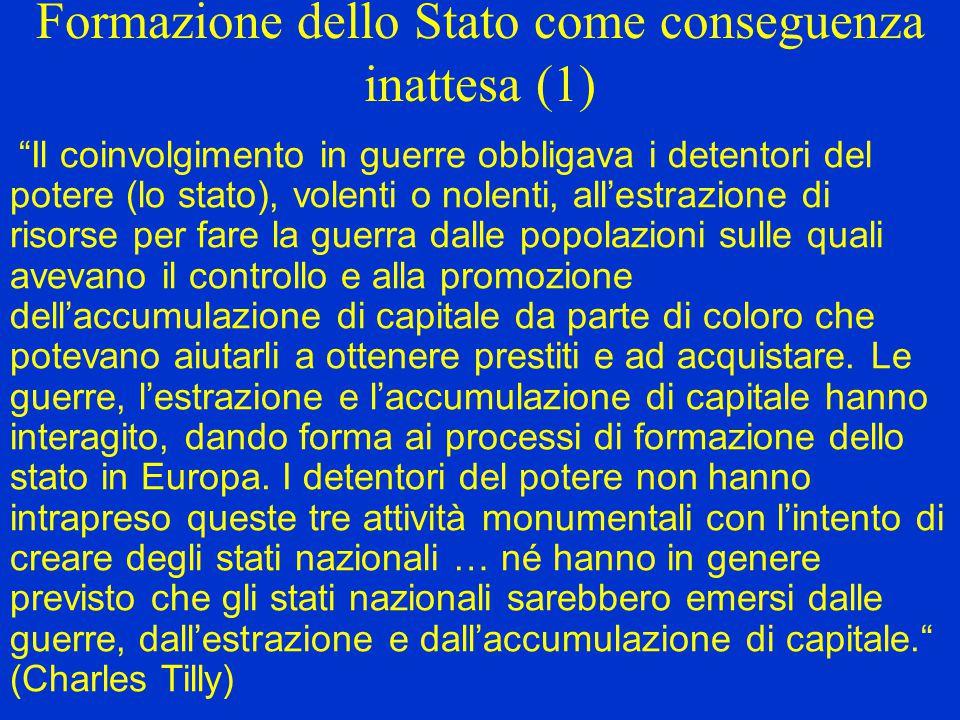 Formazione dello Stato come conseguenza inattesa (1)