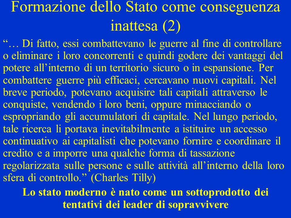 Formazione dello Stato come conseguenza inattesa (2)