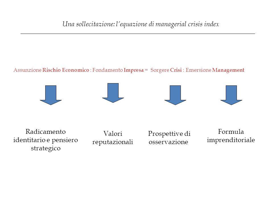 Una sollecitazione: l'equazione di managerial crisis index