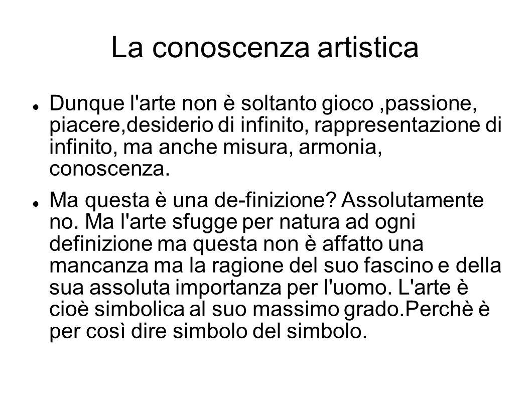 La conoscenza artistica