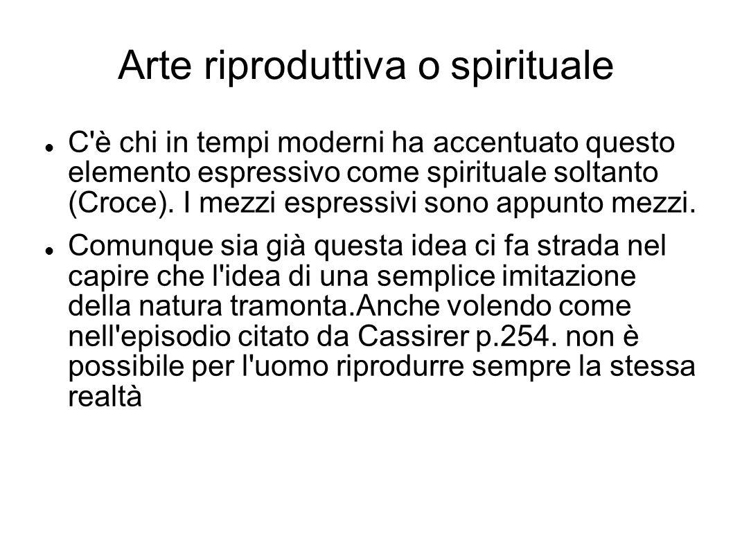 Arte riproduttiva o spirituale