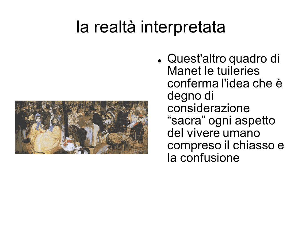 la realtà interpretata
