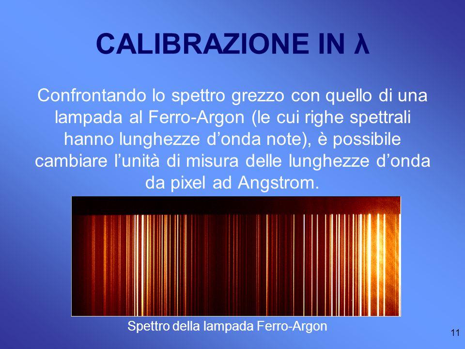 CALIBRAZIONE IN λ