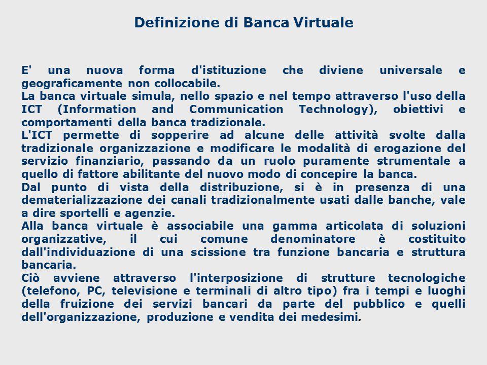 Definizione di Banca Virtuale