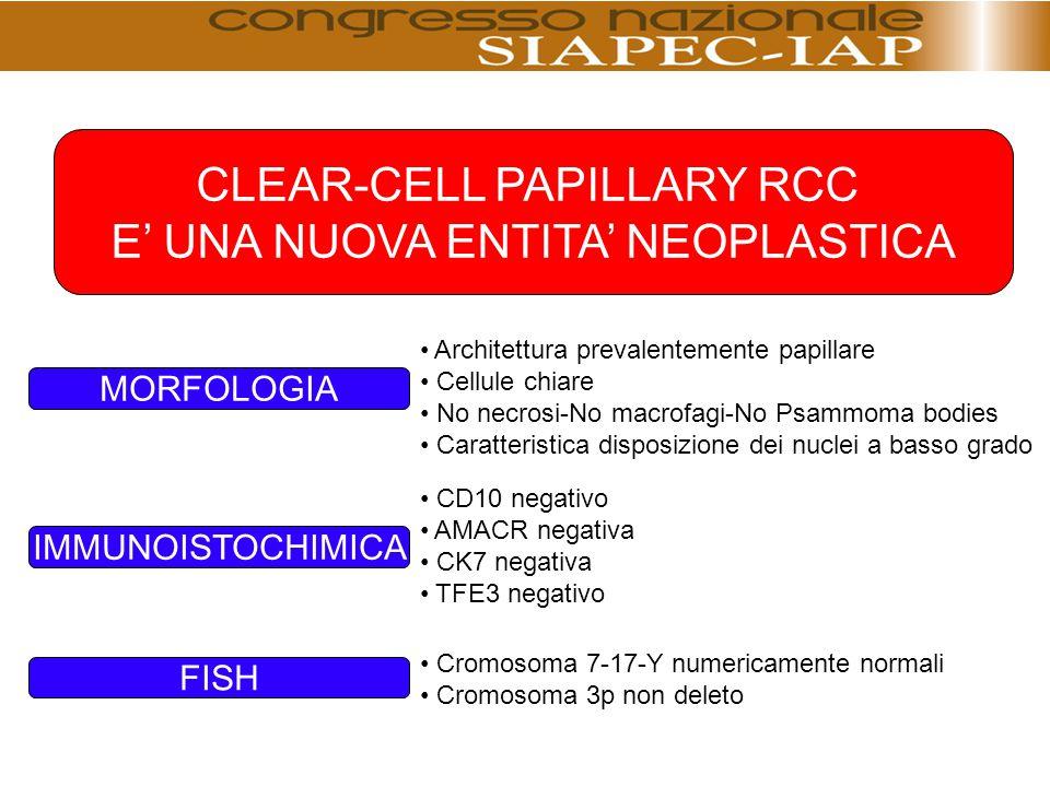 CLEAR-CELL PAPILLARY RCC E' UNA NUOVA ENTITA' NEOPLASTICA