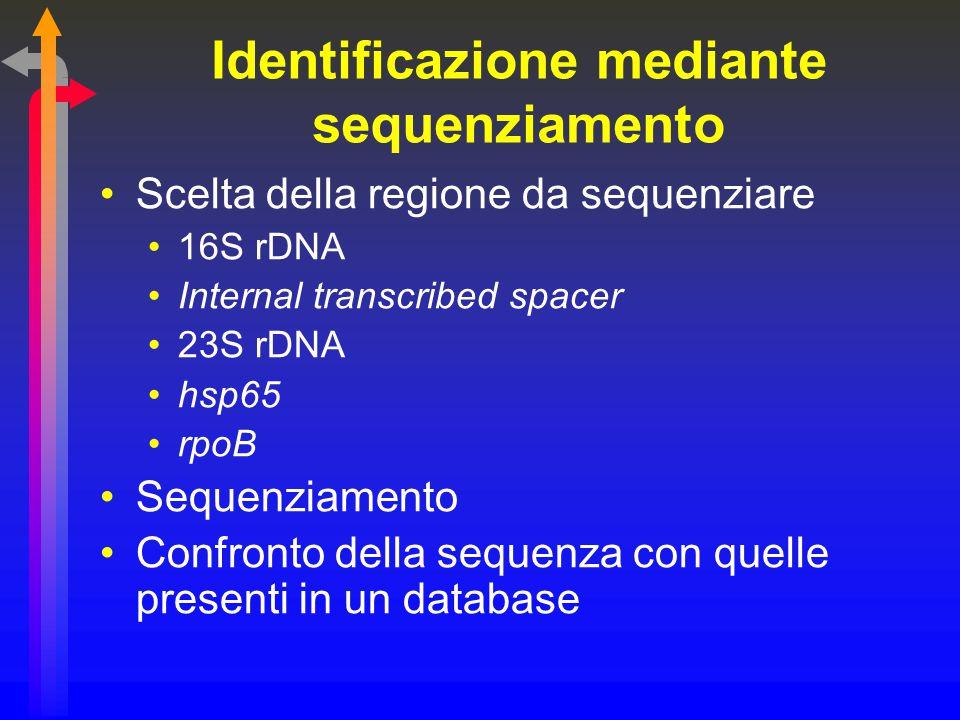 Identificazione mediante sequenziamento