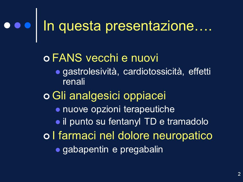 In questa presentazione….