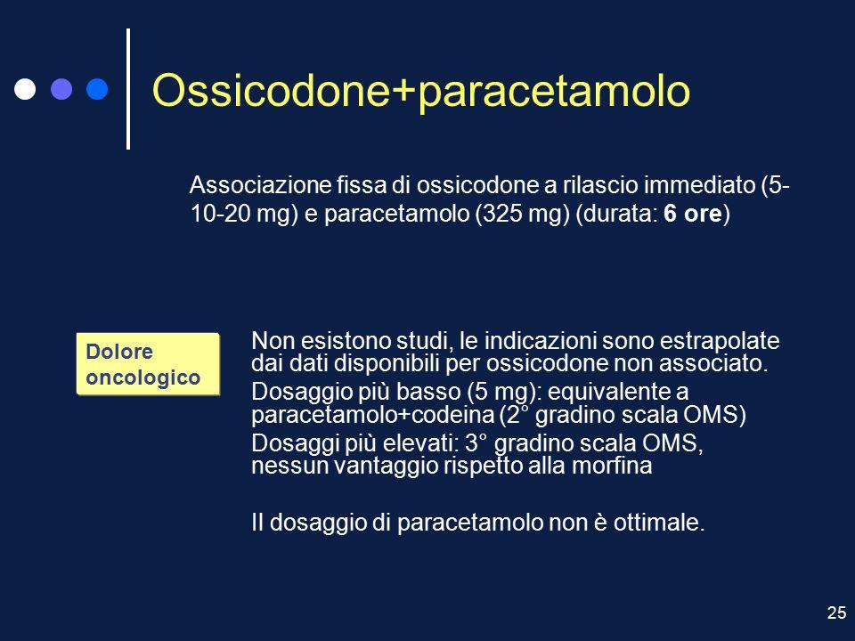 Ossicodone+paracetamolo