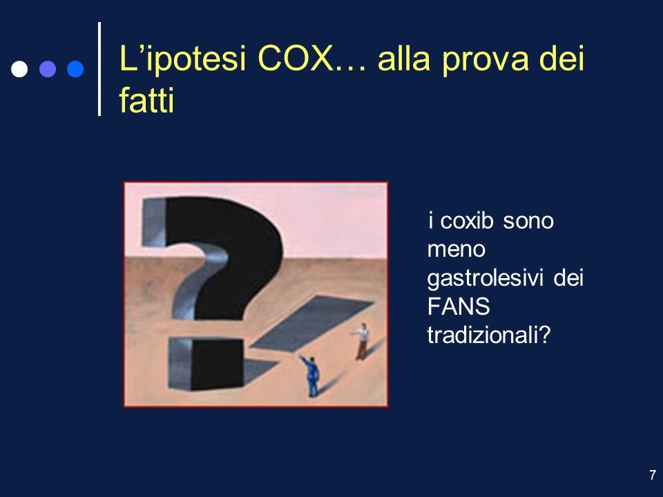 L'ipotesi COX… alla prova dei fatti