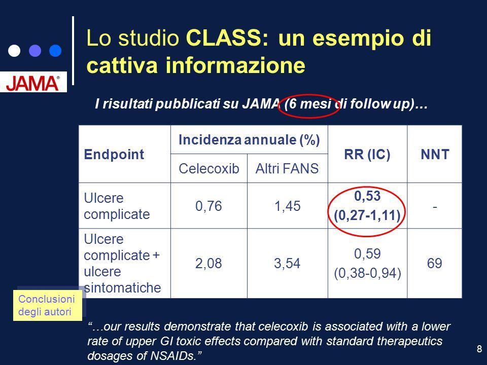 Lo studio CLASS: un esempio di cattiva informazione