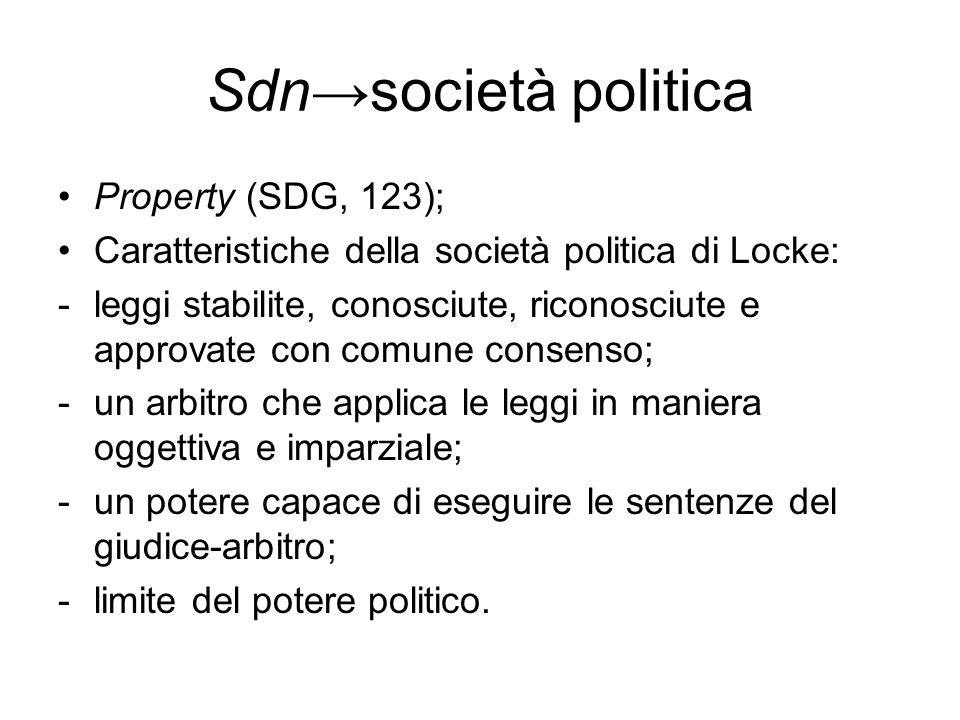 Sdn→società politica Property (SDG, 123);