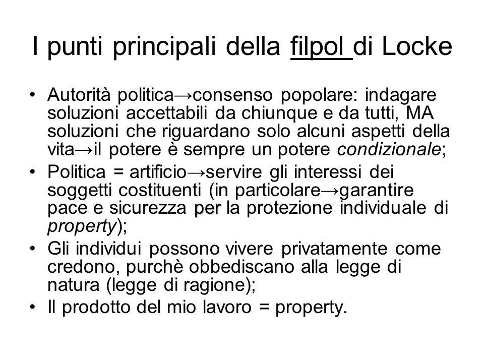 I punti principali della filpol di Locke