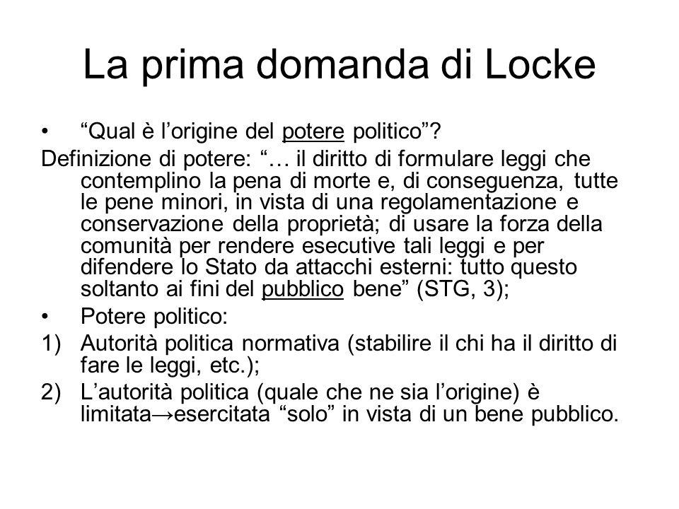 La prima domanda di Locke