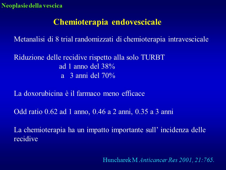 Chemioterapia endovescicale