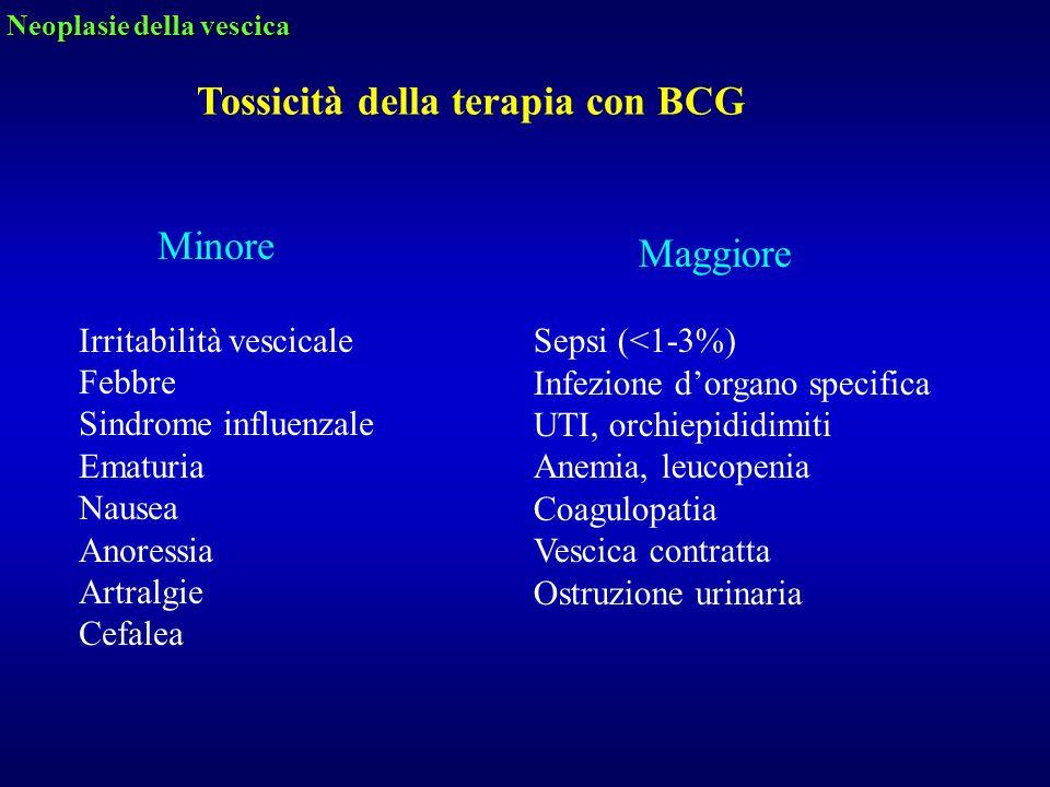 Tossicità della terapia con BCG