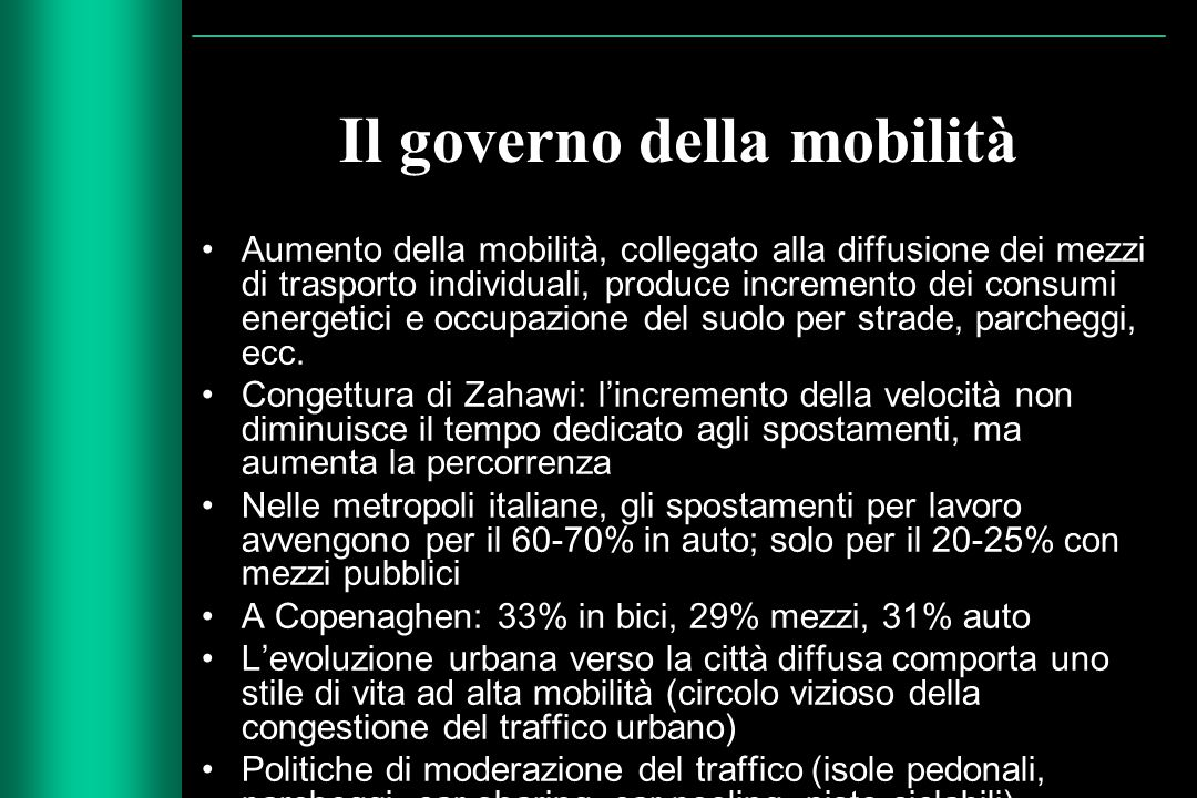 Il governo della mobilità