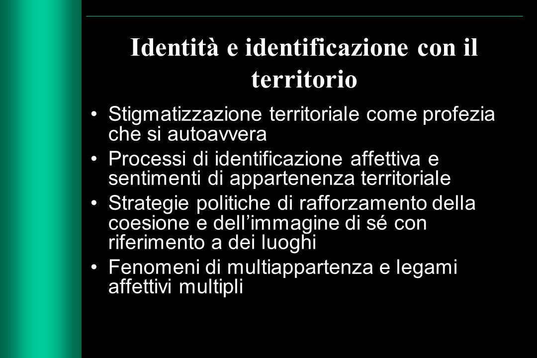Identità e identificazione con il territorio