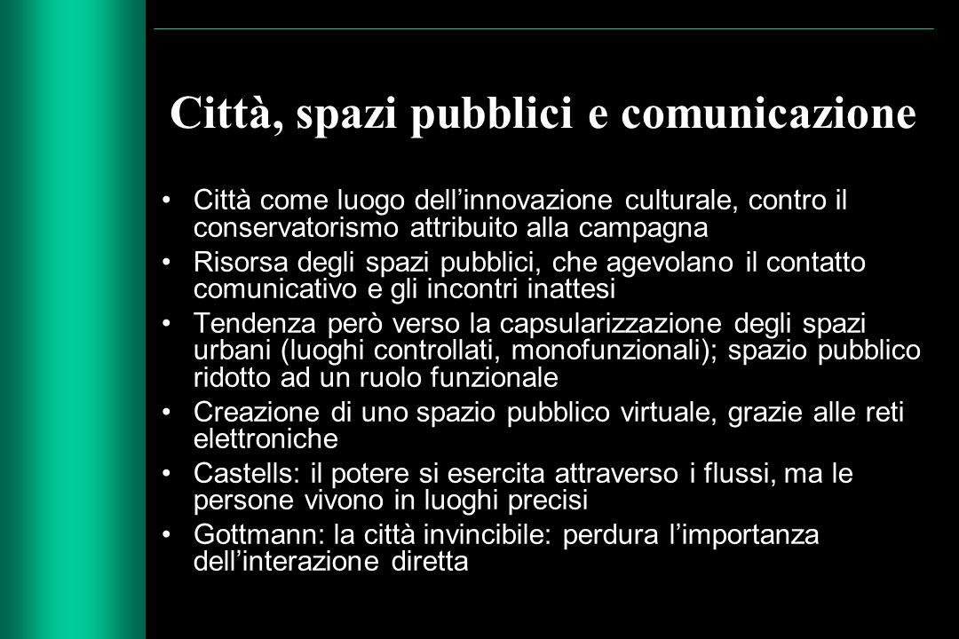 Città, spazi pubblici e comunicazione