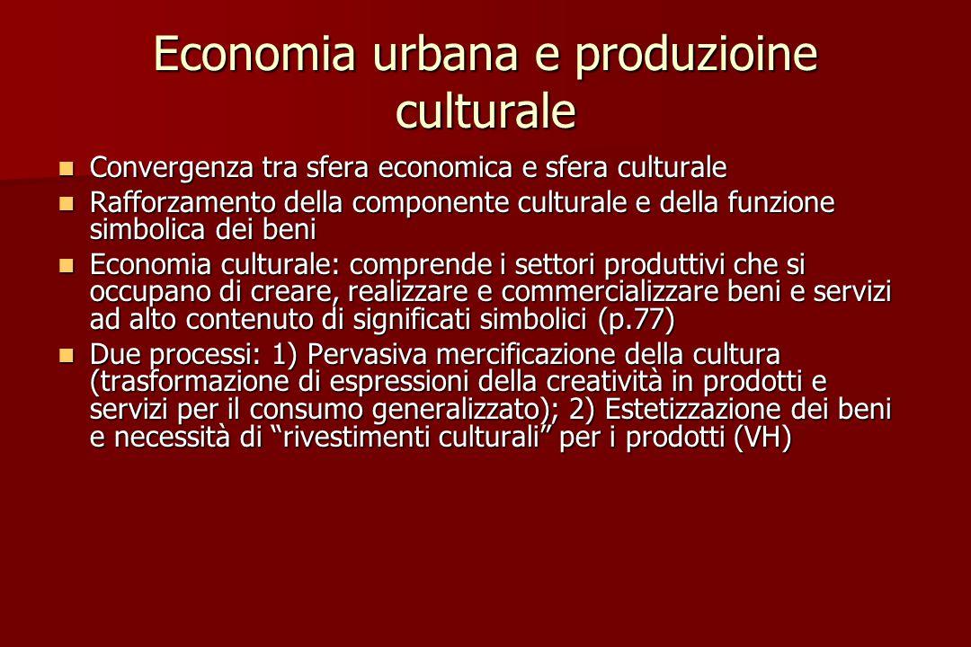 Economia urbana e produzioine culturale
