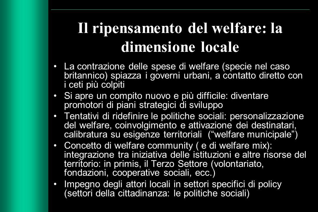Il ripensamento del welfare: la dimensione locale