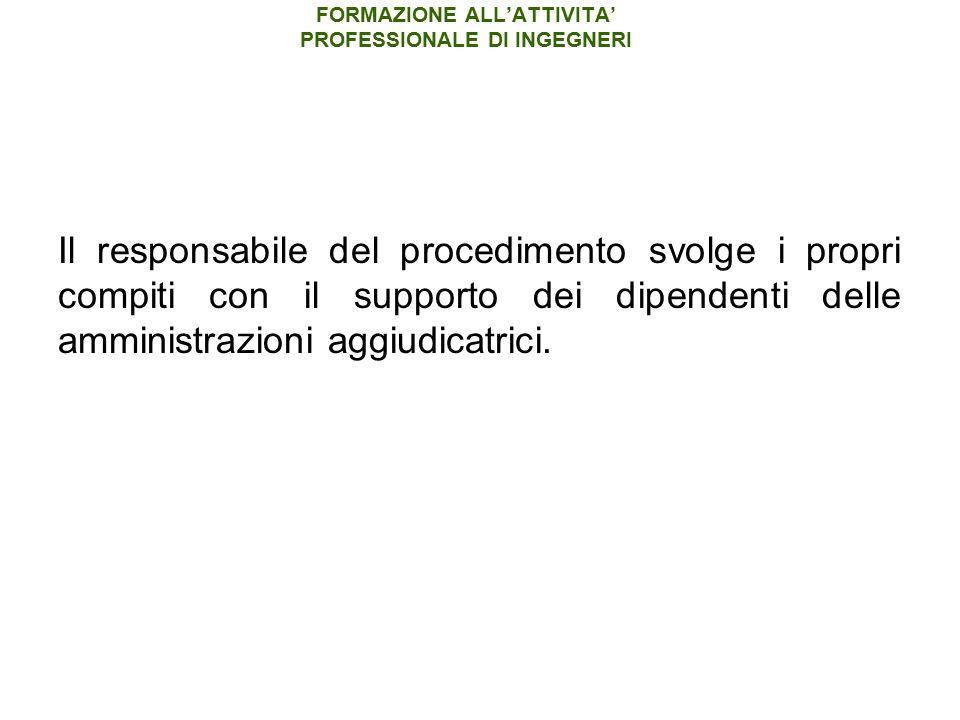FORMAZIONE ALL'ATTIVITA' PROFESSIONALE DI INGEGNERI