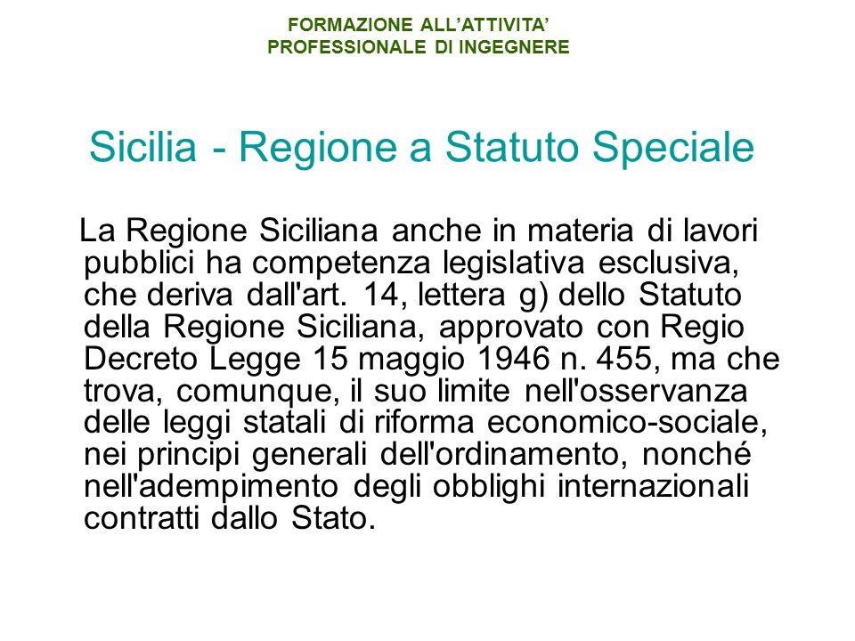 Sicilia - Regione a Statuto Speciale