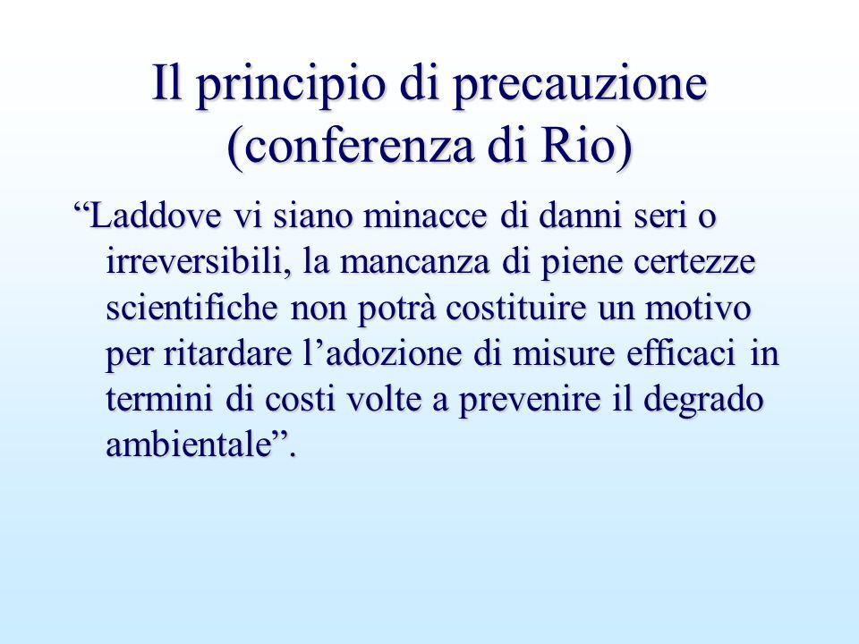 Il principio di precauzione (conferenza di Rio)