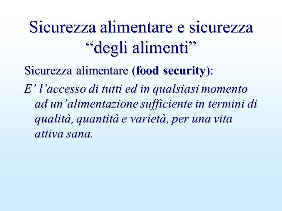 Sicurezza alimentare e sicurezza degli alimenti